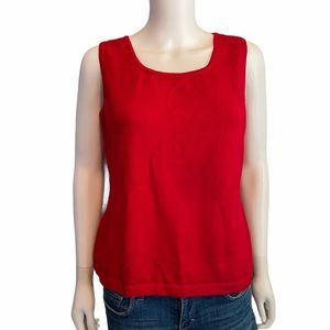 St. John Collection Red Sleeveless Top Size M